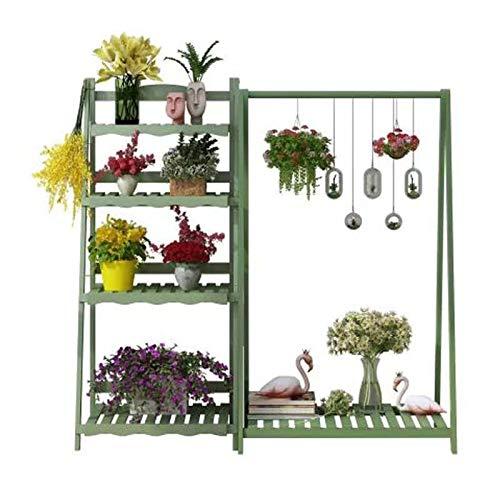 Soporte de flores Estante de plantas en maceta del tipo de colgante del piso, el tipo de columpio de gran capacidad de cinco capas puede colgar plantas en maceta, un fuerte estante de carga, adecuado
