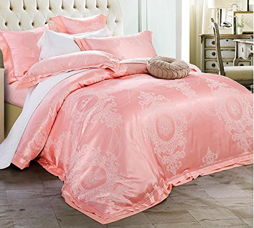 New HUROohj Satin Jacquard,The New Bedding Four Sets,European Style,Bedding Kits( 4 Pcs) for B...