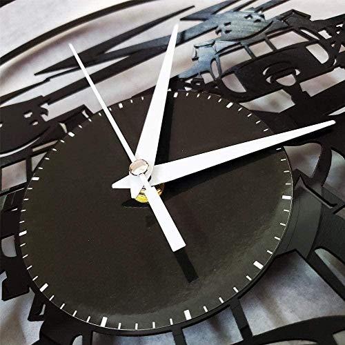 wttian Tacones Altos Vinilo Reloj de Pared Mujeres decoración del hogar diseño Retro Oficina Bar decoración para el hogar