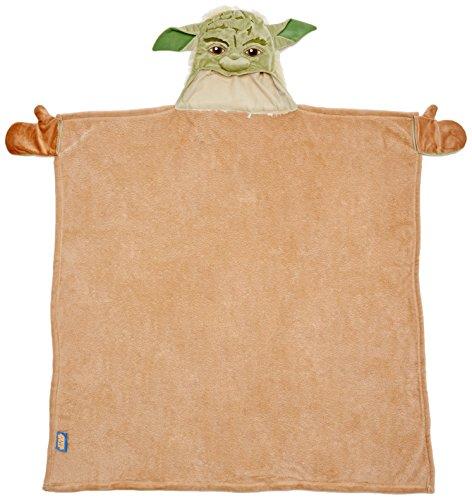 Joy Toy 15671 - Bademantel mit Yoda-Kopf als Kapuze, 100 x 100 cm