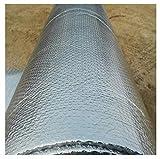 Rollo Aislante Térmico Lámina Térmica Aluminio Aislante con Burbujas para Ahorro De Energía En Radiator Reflector De Calor Aislamiento Aislamiento Térmico Multicapa para Frío Y Calor (Size : 1 * 10m)