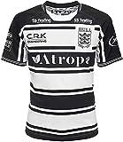 GYTH Camiseta para hombre de la Liga Británica del FC Rugby Jersey Inglaterra Supporter (color: negro, talla: S)