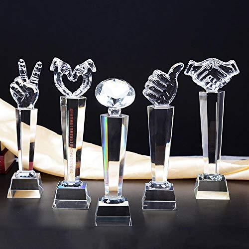 TPYFEI Individuelles Treffen der Daumen-Trophäen-Firmen-Jahrestagung mit kreativem Preis als Geschenkdekoration-k9_Thumbnail-Trompete: 255 * 70 * 70 mm
