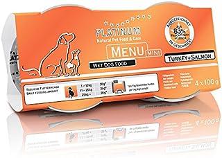 プラチナム ナチュラル ドッグフード : ターキー+サーモン(100g x 12 トレイ) 無水調理ウェットフード (グレインフリー、グルテンフリー )