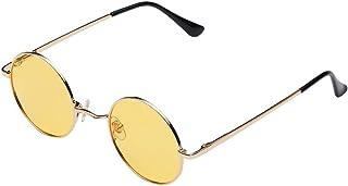 Kaiaiyong Small Round Polarized Sunglasses for Women Men Retro Circle Sun Glasses,John Lennon Style