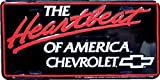 Hangtime The Heartbeat of America Embossed Metal auto tag 6 x 12