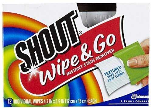 Shout Wipe & Go Instant Stain Remover - 12 CT (Pack - 3)