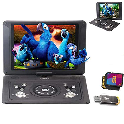 MAYWU 14'' Portable DVD Player,for Kids and Car,with 14'' HD Swivel Screen Support SD Card USB CD DVD with AV Input/Output and Earphone Port, Best Gift for Kids