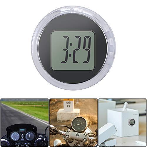 Freeleben Orologi da moto impermeabili, orologi digitali luminosi con retroilluminazione, mini orologi per auto e moto, display antiurto formato 12 ore