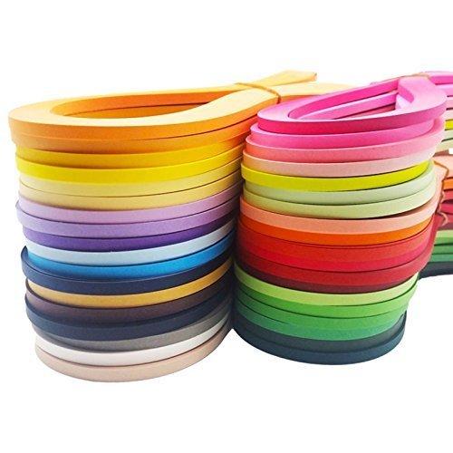 Quilling-Papierstreifen,3600pcs (30 Farben) 5 mm Breite 54 cm Länge Papier Quilling Papier DIY Dekoration Geschenk Origami Papier Streifen Quilling