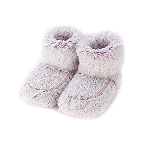 Warmies Damen/Damen Hausschuhe in der Mikrowelle, 90 Sekunden hoch, Einheitsgröße 36-40, Pink - Rosa Marshmallow - Größe: 35/39 EU