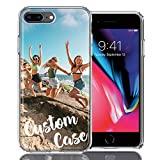 Design Your Own iPhone Case, Personalized Photo Phone case for iPhone 8 Plus/iPhone 7 Plus - Perfect Valentine Day Gift Custom Case (iPhone 8 Plus)