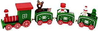 helegeSONG Merry Christmas Train Model Decoration, Christmas Tree Smowman Bear Train Model Desktop Ornament for Kids Toy Xmas Gift Green
