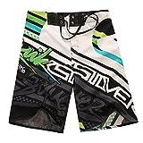 ZiXing Pone en cortocircuito traje de baño shorts Swimwear Beach Trunks 34 para Hombre 34 (correa = 86 CM) Verde, Verde