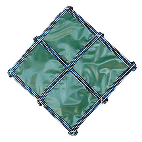 ERRU Cubierta para Piscina 8m/ 7m/ 6m/ 5m/ 4m/ 2m Cubierta de Piscina Antipolvo, Cubiertas Rectangulares de Invierno para Piscinas para Piscinas Elevadas, Grado Comercial (Verde Sólido)