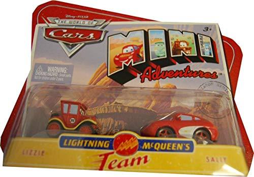 Disneys Cars Mini Adventures 2Pk Lightning McQueen Team Lizzie & Sally