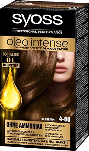 Syoss Oleo Intense Haarfarbe, 4-60 Goldbraun, 3er Pack (3 x 115 ml)