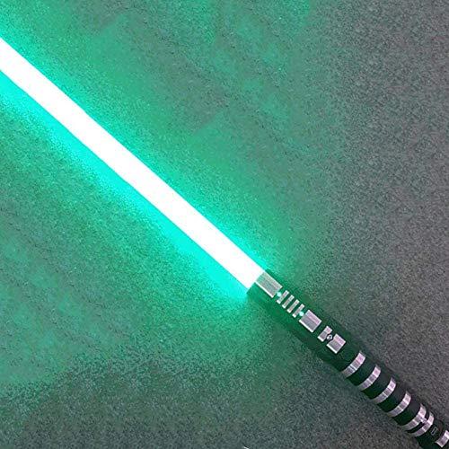 YLME Sable Luces Star Wars Que Brilla Intensamente Juguete Juguete Metal Extraíble USB Carga Ligera Láser Espada para Niños Brillante Regalo Juguete Cosplay Juguete,Verde,38.5Inches