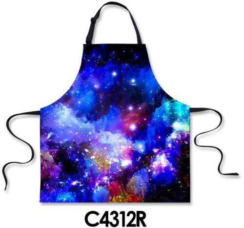 HUGS IDEA Tabliers de cuisine/restaurant tendance avec impression étoiles de la galaxie