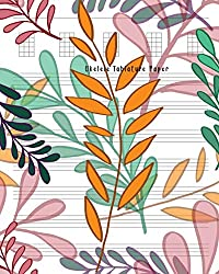 Ukulele Tablature Paper: Composition and Songwriting Ukulele Music Song with Chord Boxes and Lyric Lines Tab Blank Notebook Manuscript Paper Journal ... Beginners or Musician Muti-Color Leaves Cover