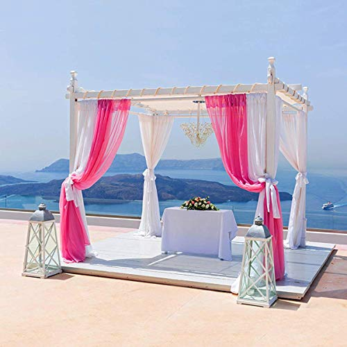 BITFLY 10 m x 1,35 m Organza Swag DIY stof bruiloft Top tafel Event Party Decor trap lint dwarsbehang tafel rok 30 kleur - Fuchsia