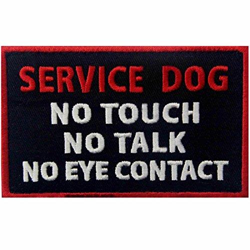 Service Dog No Touch No Talk No Eye Contact Westen/Gurte Service Hund Emblem Bestickter Aufnäher mit Klettverschluss