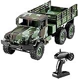 PJPPJH Camioneta Pickup RC de Escala 1:16, Coche Militar Campo a través teledirigido 4WD 2.4Ghz RC Militar de la Correa eslabonada del vehículo