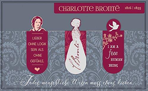 moses. 83074 Magnetlesezeichen Charlotte Brontë libri_x | 3er Set | Magnetisches Lesezeichen | Charmant Illustriert
