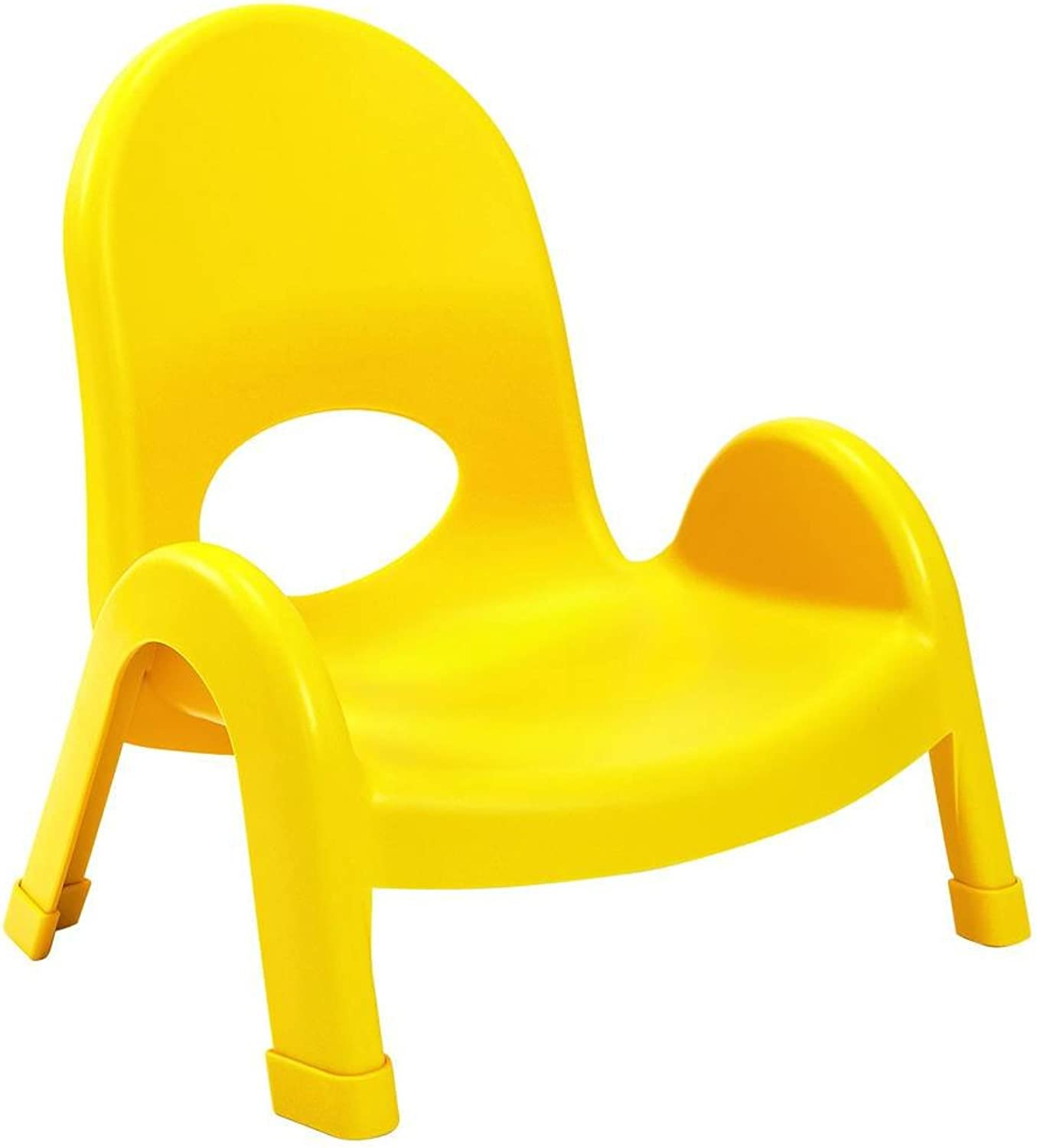 Angeles 5-Inch Value Stack Chairs Set of 4 (Canary Yellow)