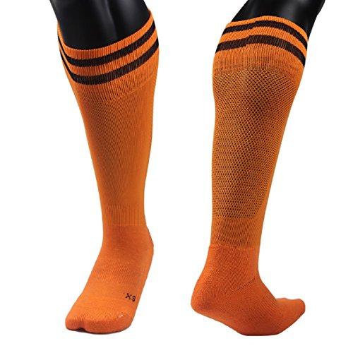 Lian LifeStyle - Calcetines deportivos para niña, talla M, color naranja