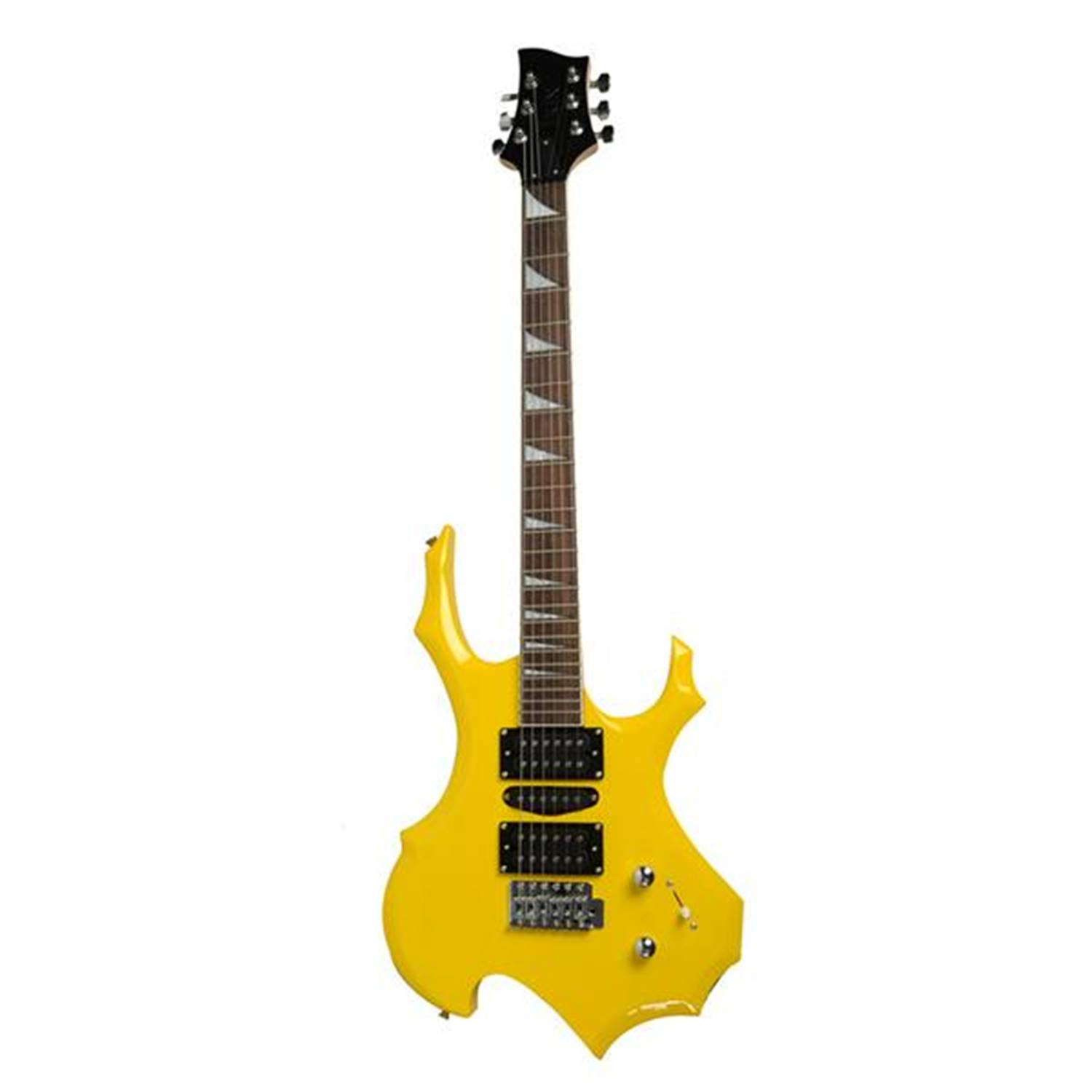 Cheap SHUTAO Professional Flame Type Electronic Guitar Guitar Bag Pick Tremolo Bar Link Cable Set Yellow Black Friday & Cyber Monday 2019