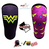 Knee Sleeves ( 1 PAIR ) 7 mm Neoprene Best Knee Supports Pain Compression Brace Cap for Squats,...