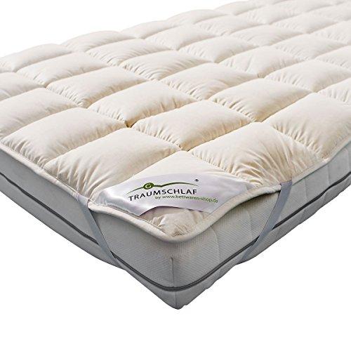 Traumschlaf Unterbett Matratzenauflage Merino mit Zirbe 90x200 cm