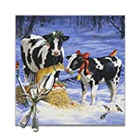 乳牛 ランチョンマット 食卓マット プレースマット おしゃれ 防汚 滑り止め 撥水 断熱 飾り お手入れ簡単 30 X 30cm 6枚セット
