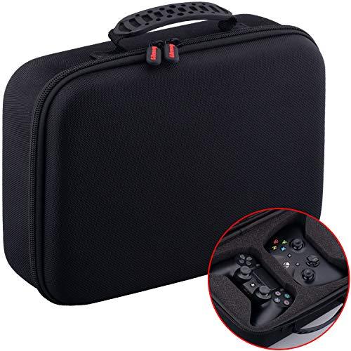 YoRHa Staub- und Wasserdicht Universal Reise Hartschalenkoffer Tragen Taschen Case Cover für Dual Jede Normale Größe Controller z. PS4 Xbox One, Switch Pro usw.