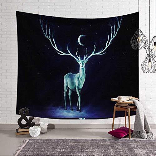N / A Diseño impactante de la Tierra Tapiz Colgante de Pared Nebulosa Luna Elk Mandala Yoga Toalla de Playa Manta Decoración de la habitación de los niños Ropa de Cama V16 150cmx130cm