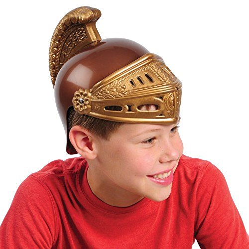 New Deluxe Child Roman Gladiator Costume Trojan Helmet