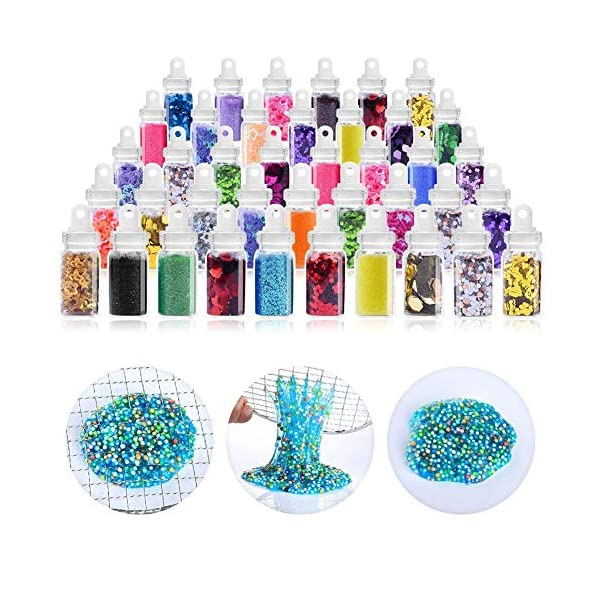 ESSENSON Slime Kit - Slime Supplies Slime Making Kit for Girls Boys, Kids Art Craft, Crystal Clear Slime, Glitter, Slime… 5