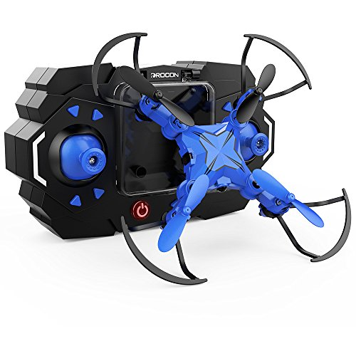 DROCON Scouter Foldable Mini RC drone for kids with Altitude Hold Mode, One Key Take off Landing, 3D Flips and Headless Mode Quadcopter Easy Fly Steady for Beginners