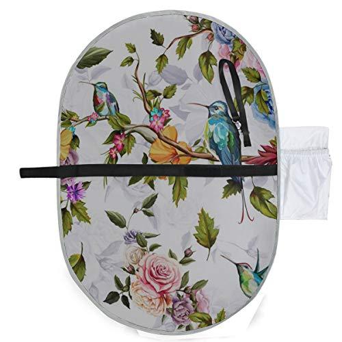 Kolibri Rosen Blumen Baby Windeln Matte tragbare Wickelauflage 27 x 10 Zoll wasserdicht faltbare Matte Baby tragbare Wickelstation Wickelauflage tragbar