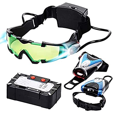 Spy Set for Kids - Kids Spy Gadgets Kit - Night Vision Goggles, Micro Voice Disguiser, Infrared Chaser - Surveillance Toys from Dazmers