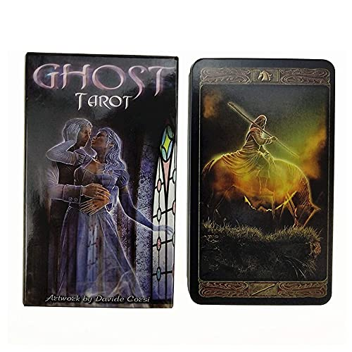 Baraja Cartas Tarot Tarot Card Deck 78pcs Ghost Oracle Tarjetas Juego de mesa Divinación Futura Fate Predicción Misterioso Astrología Conjunto de cartas Tarot, para principiantes o con experiencia
