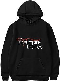 EMLAI The Vampire Diaries Hoodie for Women Long Sleeve Classic Plain Jumper Graphic Hooded Sweatshirts