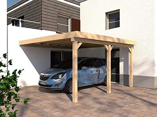 Anlehncarport Carport RHÖN V 400x500cm KVH Konstruktions-Vollholz Bausatz Anlehn Carport