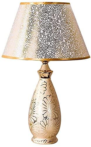 XFXDBT Lámpara de Mesa de cerámica Europea Moderna Minimalista Cama Cama cálida Sala de Estar 46 cm * 16 cm lámpara de Mesa Duradera