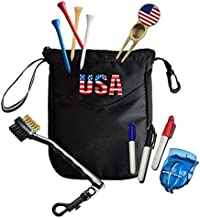 Amy Sport Golf Gift Sets for Men Women Golfer Value 5 Pack USA Pouch Divot Tool Brush Tees Ball Line Liner Marking Tools with Pens Premium Gifts Set for Dad Beginner (Golf Gift Set & 5 Pack)