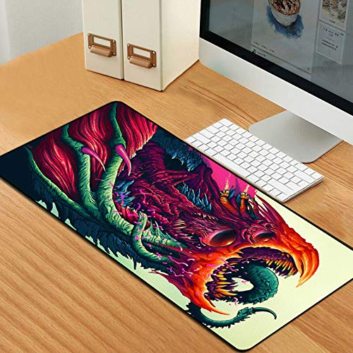 Extra Large Gaming Mouse Pad Gamer Hyper Beast Computer Mousepad Anti-Slip Natural Rubber Gaming Mouse Mat XXL 900x400mm