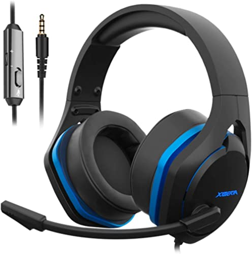 Jeecoo V22 Gaming Headset for Xbox One PS4 PC, Stereo Deep Bass Sound Headphones with Noise Cancelling Microphone, Bi...