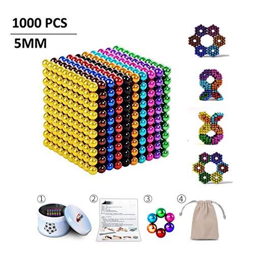 DTZW Bälle 5 mm 1000 Stück, Kreatives Lernspielzeug für Intelligenzentwicklungcc 5 mm 1000 Stück 10 Farbe,2pcs 2000 Stück