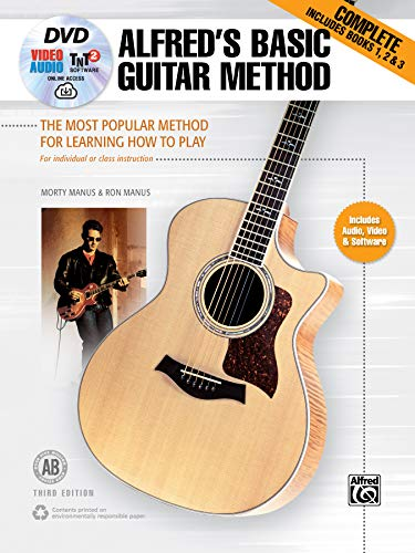 Alfred's Basic Guitar Method, Complete: The Most Popular Method for Learning How to Play, Book & Online Video/Audio/Software (Alfred's Basic Guitar Library)